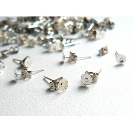Acheter 20 paires de puces d'oreilles 3mm - couleur argent foncé - fermoir silicone - 2,80€ en ligne sur La Petite Epicerie ...