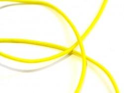 1 m de cordon élastique 1 mm - Jaune  - 1