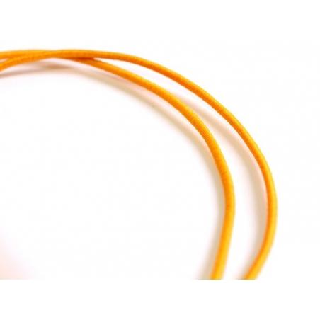 1 m of elastic cord, 1 mm - orange