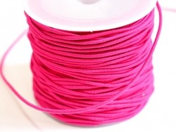 1 m of elastic cord, 1 mm - fuchsia