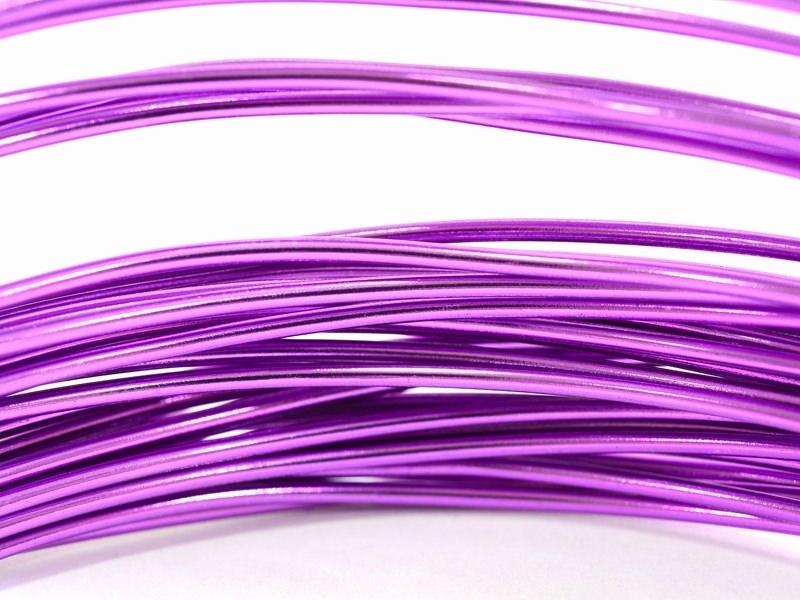 10 m of aluminium wire - purple
