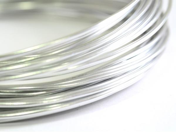 10 m de fil aluminium - argenté  - 1