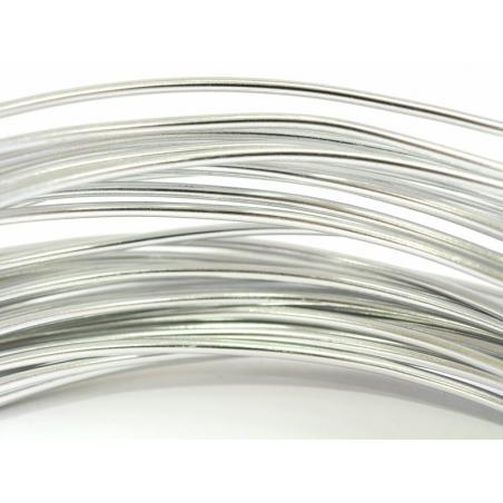 10 m de fil aluminium - argenté  - 2