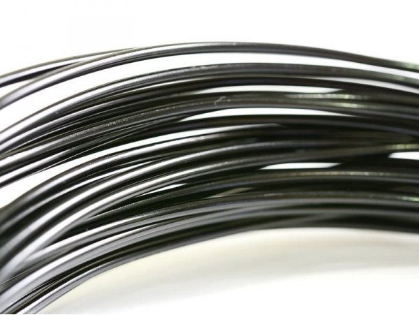 10 m de fil aluminium - noir  - 1
