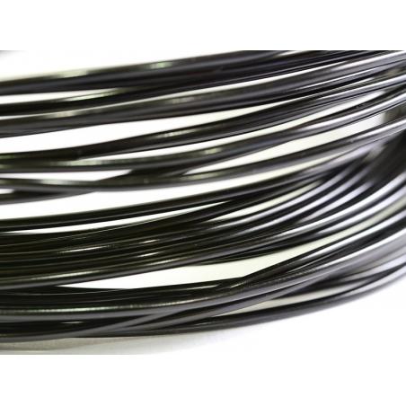 10 m de fil aluminium - noir  - 2