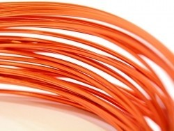 10 m de fil aluminium - orange vif