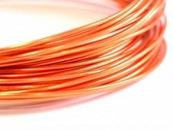 10 m Aluminiumdraht - leuchtendes Orange