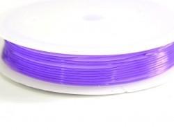 5 m de fil élastique 0,8 mm - violet  - 1