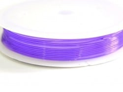 5 m of elastic cord, 0.8 mm - purple