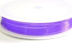 5 m of elastic cord, 0.8 mm - purple