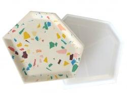 Acheter Moule en silicone - Coupelle hexagonale irrégulière - 4,29€ en ligne sur La Petite Epicerie - Loisirs créatifs