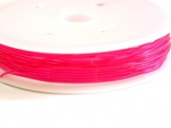 5 m of elastic cord, 0.8 mm - fuschia