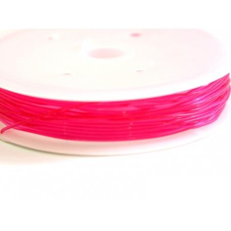 5 m of elastic cord, 0.8 mm - fuschia