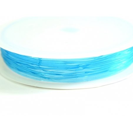 5 m of elastic cord, 0.8 mm - turquoise