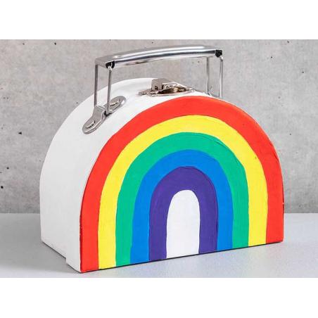 Acheter Petite valise en carton à décorer - Blanc - 4,99€ en ligne sur La Petite Epicerie - Loisirs créatifs