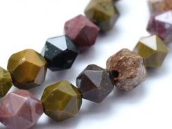 Acheter Lot de 10 perles naturelles géométriques à facettes - 6 mm - Jaspe - 5,49€ en ligne sur La Petite Epicerie - Loisirs...