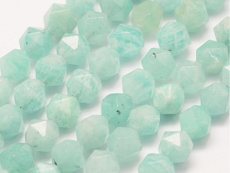 Acheter Lot de 10 perles naturelles géométriques à facettes - 6 mm - Amazonite - 5,29€ en ligne sur La Petite Epicerie - Loi...