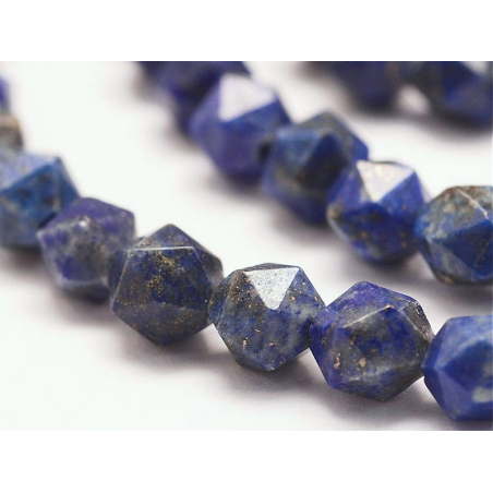 Acheter Lot de 10 perles naturelles géométriques à facettes - 6 mm - Lapis Lazuli - 3,69€ en ligne sur La Petite Epicerie - ...