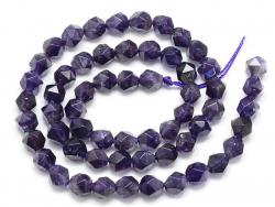 Acheter Lot de 10 perles naturelles géométriques à facettes - 6 mm - Améthyste - 5,99€ en ligne sur La Petite Epicerie - Loi...