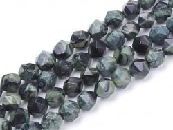Acheter Lot de 10 perles naturelles géométriques à facettes - 6 mm - Jaspe Kambaba - 3,49€ en ligne sur La Petite Epicerie -...