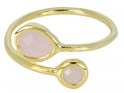 Acheter Bague ajustable plaqué or 3 microns 18K Teardrop - quartz rose - 29,99€ en ligne sur La Petite Epicerie - Loisirs cr...