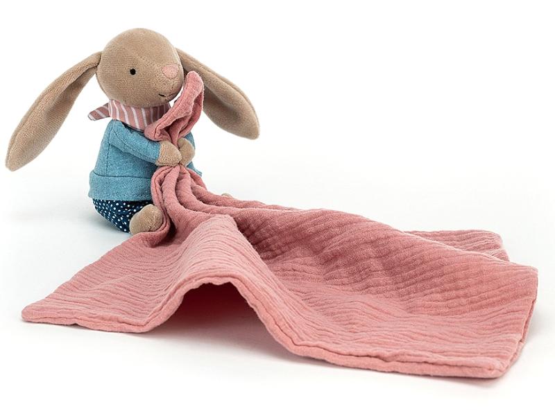 Acheter Peluche doudou qui tient un lange - lapin - 25,09€ en ligne sur La Petite Epicerie - Loisirs créatifs