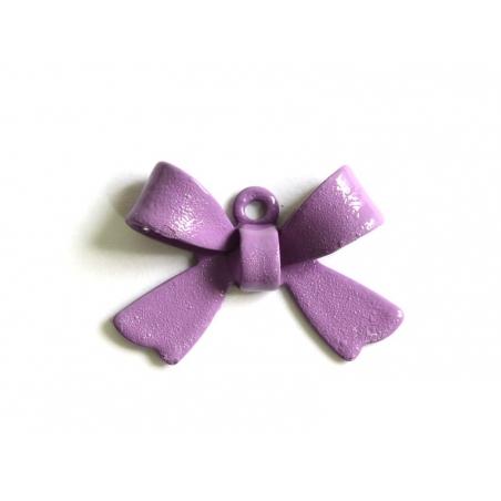 1 lilac bow charm
