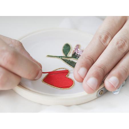 Acheter Cannetille lisse 40 cm – Rose vif - 0,49€ en ligne sur La Petite Epicerie - Loisirs créatifs