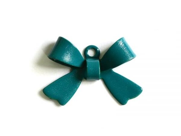 1 fir green bow charm