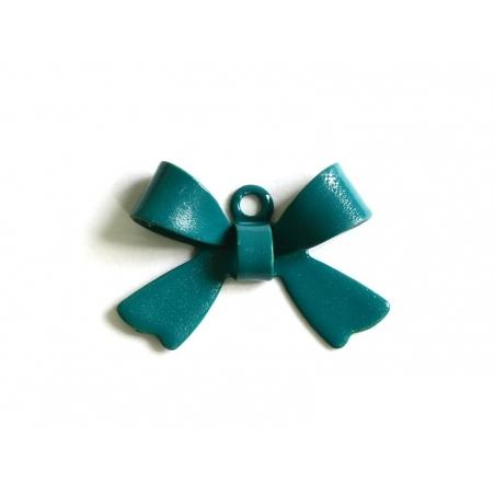 1 Breloque noeud vert sapin