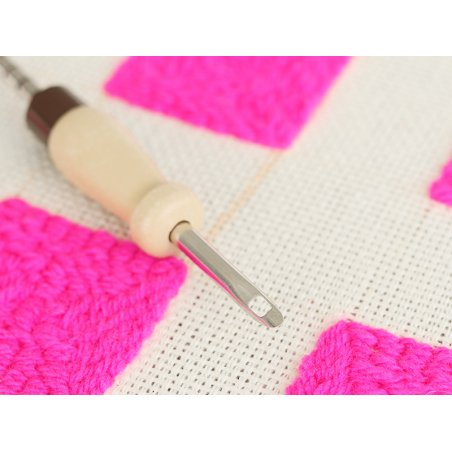 Acheter Punch needle ajustable / aiguille magique pour laine - manche en bois - 8,99€ en ligne sur La Petite Epicerie - Lois...