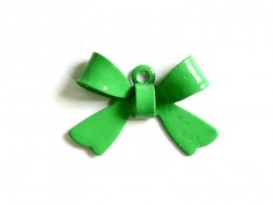 1 grass-green bow charm