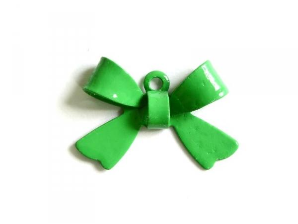 1 Breloque noeud vert pelouse