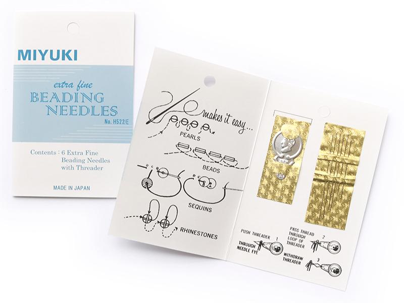 Acheter 6 aiguilles à perler avec 1 enfile-aiguille - 2,79€ en ligne sur La Petite Epicerie - Loisirs créatifs
