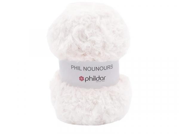 Acheter Laine Phil Nounours - Blanc - 3,89€ en ligne sur La Petite Epicerie - Loisirs créatifs