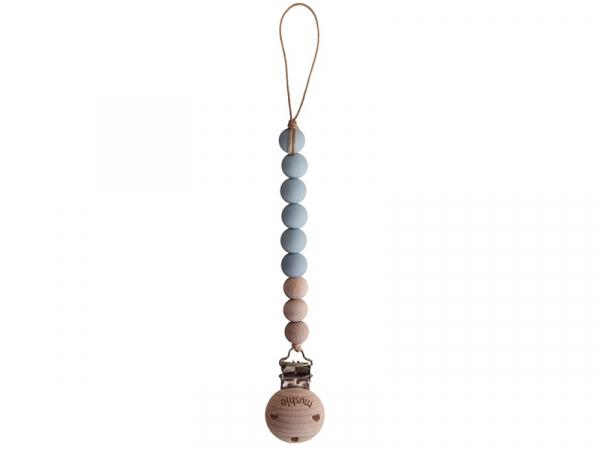 Acheter Attache-tétine Mushie - Gris nuage - 13,99€ en ligne sur La Petite Epicerie - Loisirs créatifs