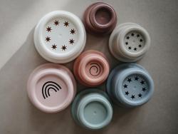 Acheter Tour de gobelets à empiler - Mushie - 14,99€ en ligne sur La Petite Epicerie - Loisirs créatifs