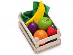 Acheter Petite cagette de 6 fruits tropicaux - jouets en bois pour dinette - 9,99€ en ligne sur La Petite Epicerie - Loisirs...