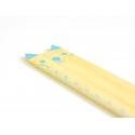 Adorable règle en bois 15 cm - chat bleu
