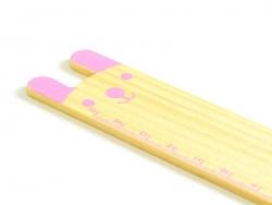 Adorable wooden ruler (15 cm) - pink bunny