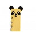 Adorable règle en bois 15 cm - panda noir