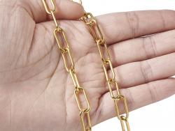 Acheter Chaine trombone dorée 17x7 mm - acier inoxydable 304 x 20 cm - 3,19€ en ligne sur La Petite Epicerie - Loisirs créatifs