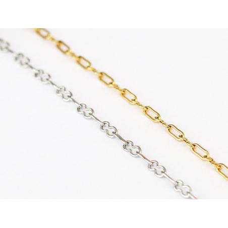 Acheter Chaine trombone dorée 8x5 mm - acier inoxydable 304 x 20 cm - 1,49€ en ligne sur La Petite Epicerie - Loisirs créatifs