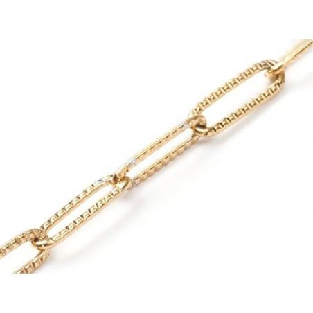 Acheter Chaîne trombone 12x4 mm texturée - acier inoxydable et dorée à l'or fin x 20 cm - 6,29€ en ligne sur La Petite Epice...