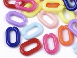 Acheter 50 anneaux en plastique 15 x 9 mm - à connecter pour création de chaine - 0,99€ en ligne sur La Petite Epicerie - Lo...