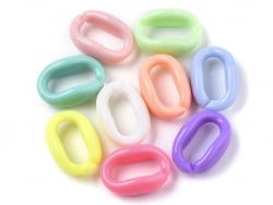 Acheter 50 anneaux en plastique 16 x 11 mm - à connecter pour création de chaine - 1,19€ en ligne sur La Petite Epicerie - L...