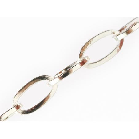 Acheter Chaine trombone argentée 12x6 mm - acier inoxydable 304 x 20 cm - 1,29€ en ligne sur La Petite Epicerie - Loisirs cr...