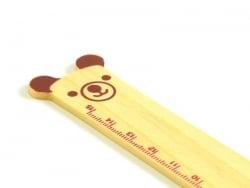 Adorable règle en bois 15 cm - ourson marron