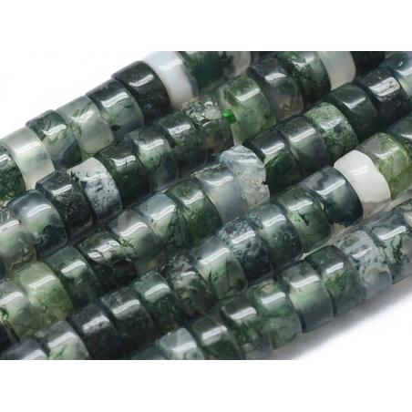 Acheter 100 perles heishi naturelles 4 mm - agate mousse - 6,99€ en ligne sur La Petite Epicerie - Loisirs créatifs