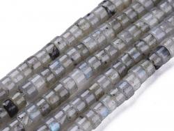 Acheter 100 perles heishi naturelles 4 mm - labradorite grise - 6,39€ en ligne sur La Petite Epicerie - Loisirs créatifs